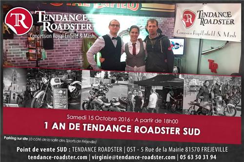 1 an de Tendance Roadster Sud